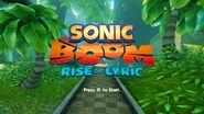 Sonic Boom Rise of Lyric title screen