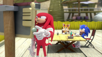 SB S1E25 Knuckles Tails Sonic Meh Burger TV