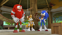 SB S1E39 Knuckles Tails Sonic shack