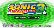 Sonic Advance 3 title