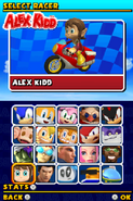 Sonic and Sega All Stars Racing DS character select 16