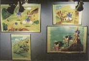 Sonic CD animation cel collection