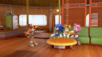 S1E32 Team Sonic Tails house