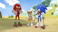 SB S1E13 Gopher Ball Knuckles Tails Sonic