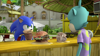 Sonic talking to Dave