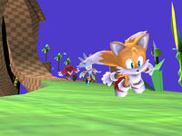Green Hill Zone background characterstailsknucklessilver