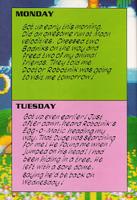 Sonic's Diary mon-tue