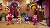 SB S1E05 Team Sonic fighting stance
