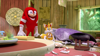 SB S1E50 Knuckles Tails mess