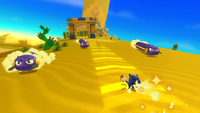 Crawltons are moving to wrong direction unlike Sonic