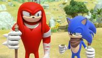 SB S1E13 Knuckles Sonic coin flip 1