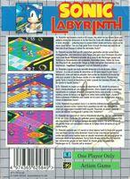Sonic Labyrinth EU - back