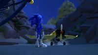 SB S1E12 Sonic Tails Plane land