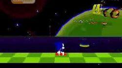Компиляция из двух тестовых анимаций планировавшегося геймплея Sonic Mars