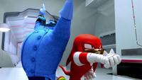 SB S1E08 Blue Eggman vs Knuckles 3
