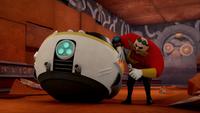 SB S1E22 Eggman repair Eggmobile