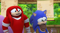 SB S1E39 Knuckles Sonic confused