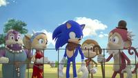SB S1E34 Villagers thank Sonic