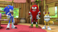 SB S1E39 Sonic Knuckles Tails house