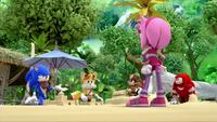 SB S1E50 Team Sonic sandcastle