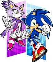 Sonic Rush art early