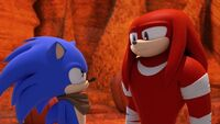 SB S1E13 Sonic challenges Knuckles