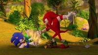 SB S1E25 Sonic Knuckles fire
