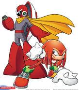 Rivales colisionan (Knuckles y Proto Man)