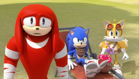 SB S1E13 Knuckles Sonic Tails gopher ball