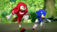 SB S1E25 Knuckles Sonic run