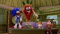 SB S1E50 Team Sonic decorate Knuckles