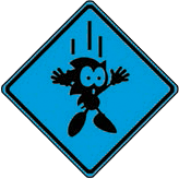 Sonic MSG warning sign blue