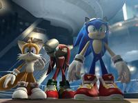 Team Sonic in Future City (CGI)