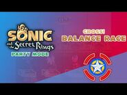 Cross! Balance Race - Sonic and the Secret Rings (Party Mode)