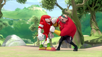 SB S1E10 Knuckles vs Eggman 2