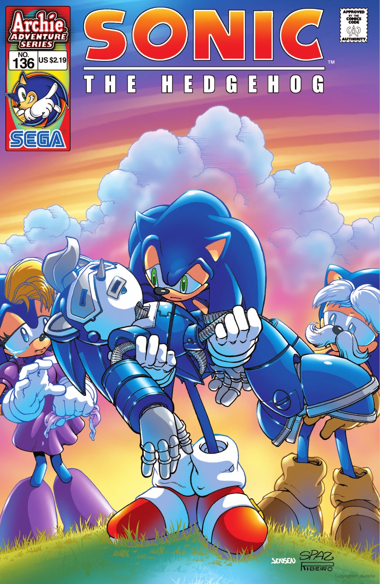 Archie Sonic the Hedgehog Issue 136