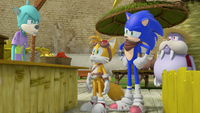 Sonic and Tails at Meh Burger