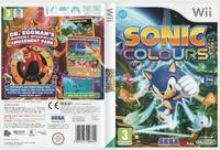 Sonic Colours Wii Europe full box art