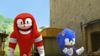 SB S1E39 Knuckles Sonic amused