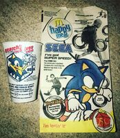 McDonald's Sega 2004 bag and cup