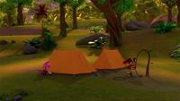 SB S1E25 Amy Sticks campsite