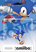 Amiibo Box Front SSB4 Sonic