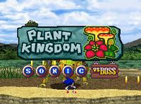 Plant Kingdom Vs Boss Sonic title card
