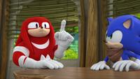 SB S1E39 Knuckles Sonic idea 2