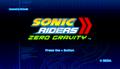 Zero Gravity Title Screen
