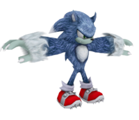 Sonic the Werehog model WiiPS2