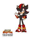 Boceto de Shadow the hedgehog en progreso