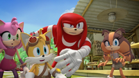 Knuckles tosses
