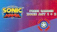 Press Garden Zone Act 1 2 - Sonic Mania