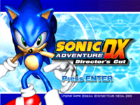 Title Screen from the game